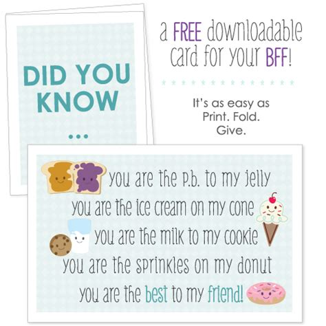 printable card for friend national best friend day free printable big dot of happiness