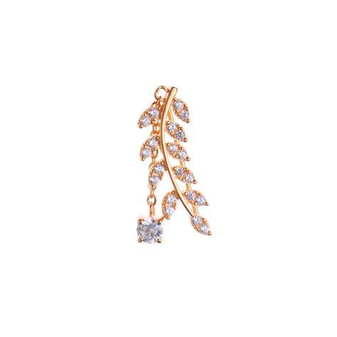 Anting Perhiasan Solitaire jual anting giwang emas anting giwang klep emas daun