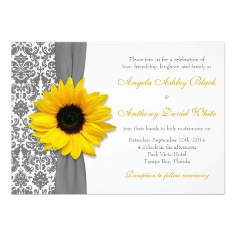 Wedding Invitation Cards Yellow by 17 Best Ideas About Sunflower Wedding On