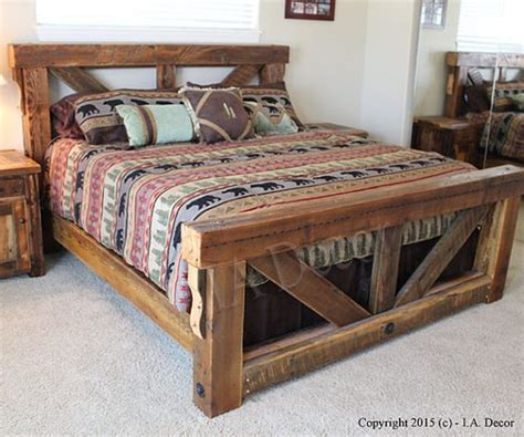 rustic queen bed frame timber trestle bed rustic bed reclaimed wood bed