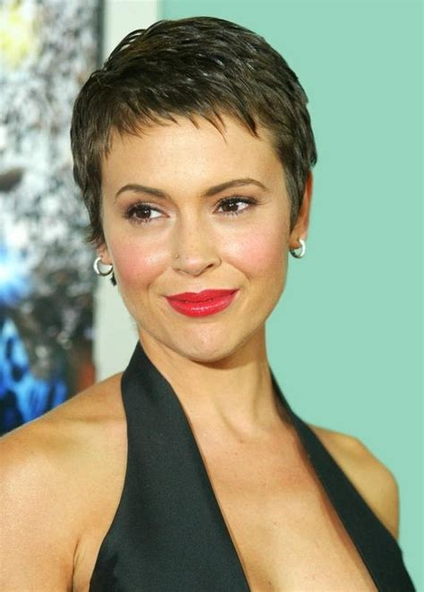 alyssa milano haircut youtube 20 collection of pixie haircuts with fringe