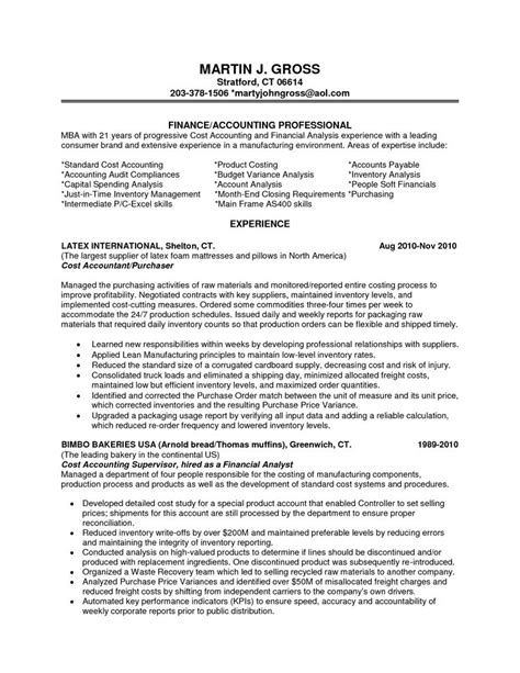financial analyst objective statement financial analyst resume exles entry level financial
