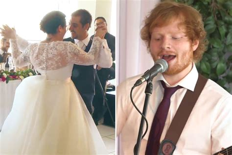 WATCH: Ed Sheeran Surprises Couple At Their Wedding
