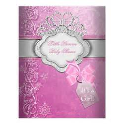 princess baby shower pink tiara princess invites zazzle