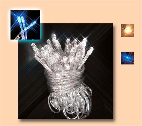 Lu Led Luminos instalatie 50 led superluminos albastru pentru exterior cu