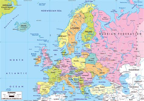 printable road map of europe maps of europe and european countries political maps