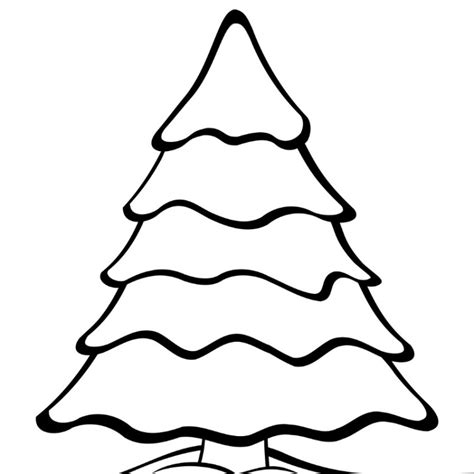 free plain christmas tree coloring pages