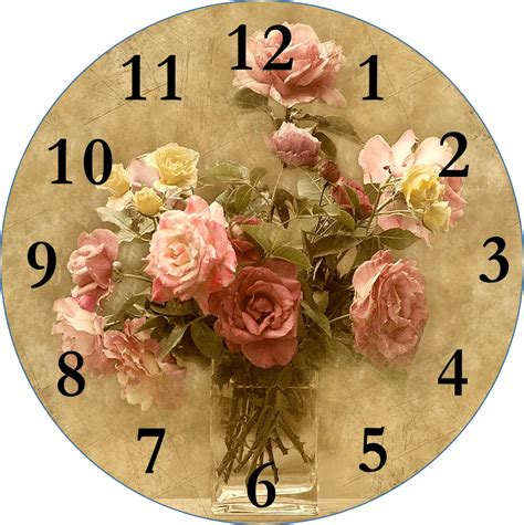 Home Decor Craft Blogs smells like mommy clock faces for decoupage