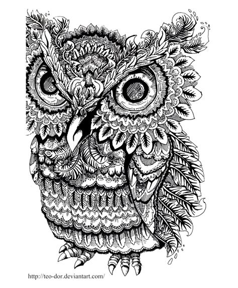 large printable owl free coloring pages printables a girl and a glue gun