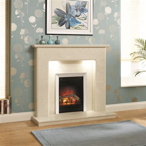 fireplace lights essential fireplaces darley 48 inch traditional marble