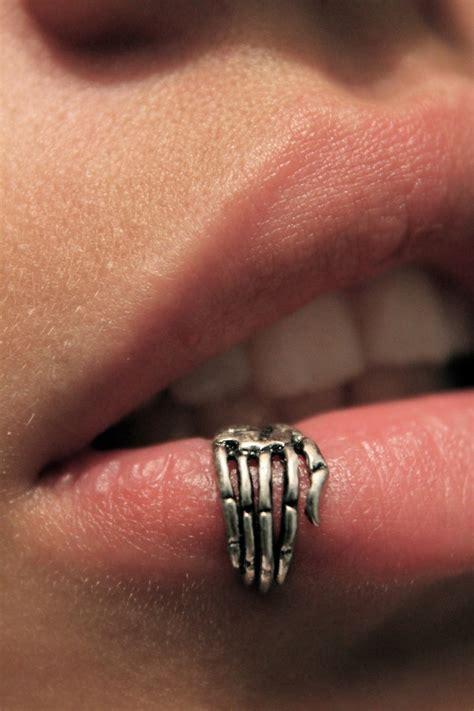 jewels lip ring piercing jewelery silver