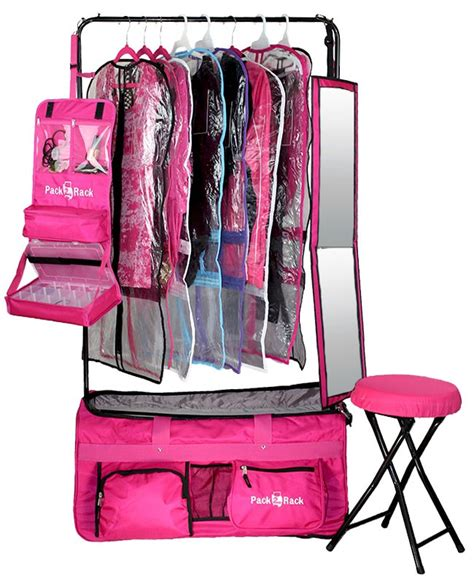 Rolling Bag With Garment Rack by Pack 2 Rack