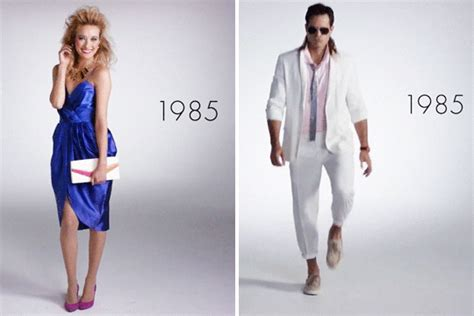 styles of 1985 fashion for 100 years