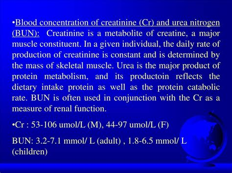 creatinine 97 umol l ppt chapter 4 urine tests and renal function tests