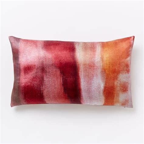 cloudy abstract silk pillow cover shockwave west elm