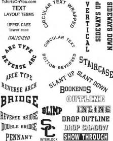 tshirts on you lettering font styles