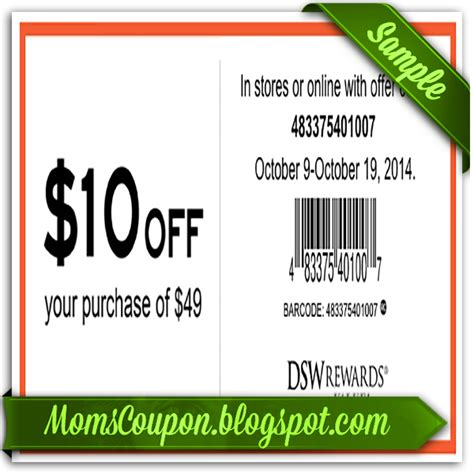 Dsw In Store Coupons Printable