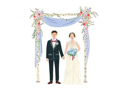 Wedding Illustration by Wedding Illustration Barunsoncard On Behance