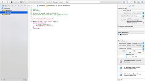 pattern programs in objective c objective c hello world tutorial journaldev