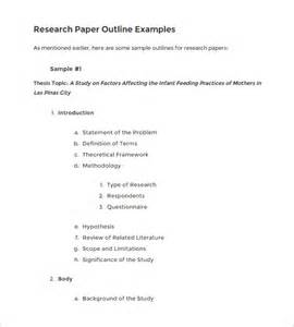 template for research paper outline 5 research outline templates free word pdf documents