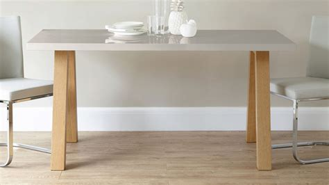 Grey Oak Dining Table Contemporary 6 Seater Grey Gloss And Oak Dining Table Uk