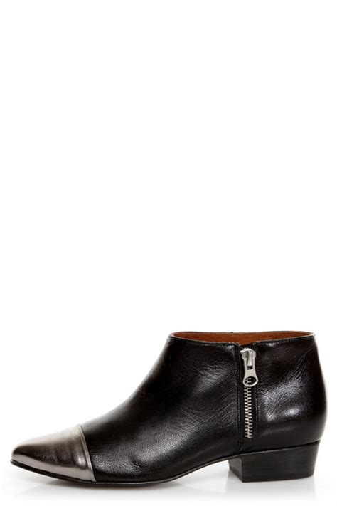 sixtyseven boots sixtyseven enrica lake black cap toe winklepicker ankle