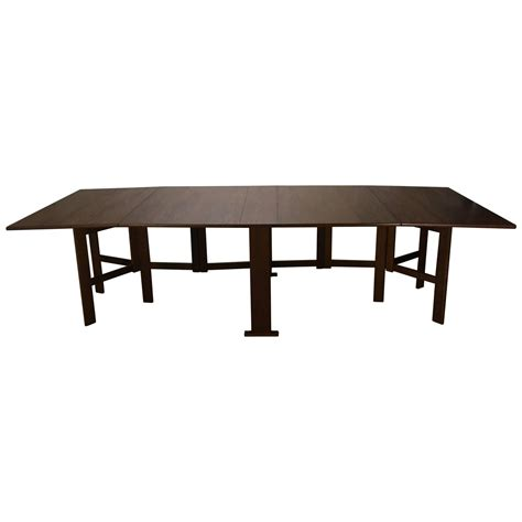 collapsing dining table large bruno mathsson collapsible banquet dining table for