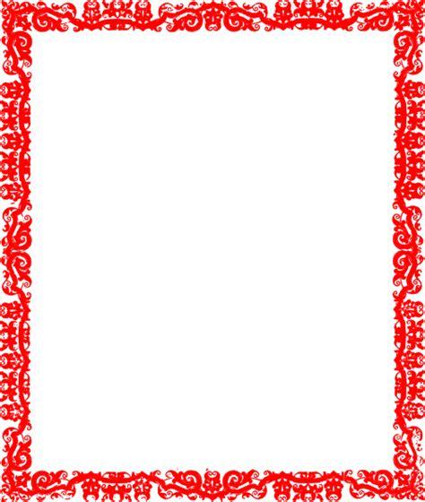 red border design clip art at clker com vector clip art