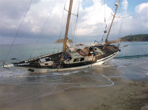 boat us named storm deductible storm beaches yacht on phuket s kata beach
