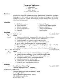 Sle Hair Stylist Resume by Unforgettable Stylist Resume Exles To Stand Out Myperfectresume