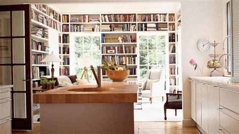 kitchen design book built in bookshelves transitional den library office