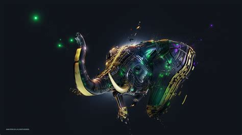 abstract elephant wallpaper elephant artwork wallpapers hd wallpapers id 20044