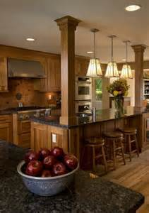 Kitchen Islands With Columns Kitchen Island With Columns Load Bearing Wall Dream Home