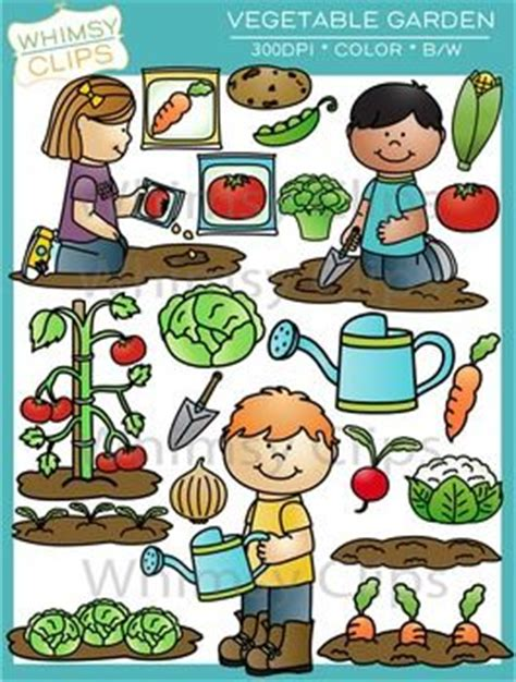 vegetable garden clip gardens tomato seeds and vegetables on