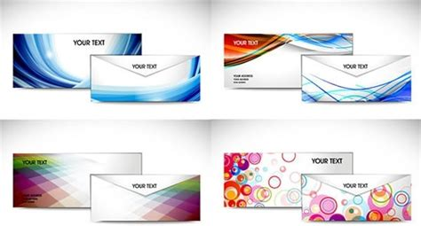envelope background design colored envelope template vector free vector in