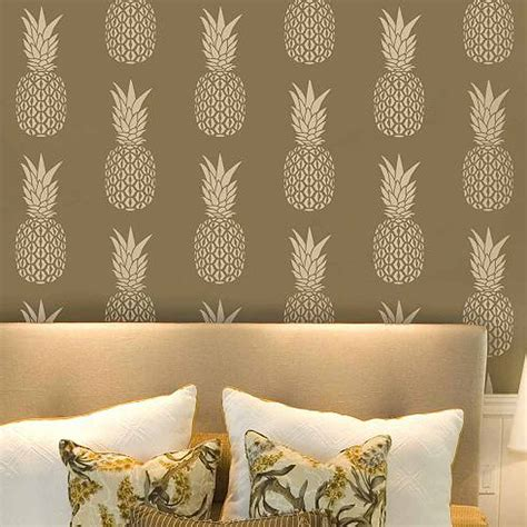 pineapple allover stencil diy home decor stencils for