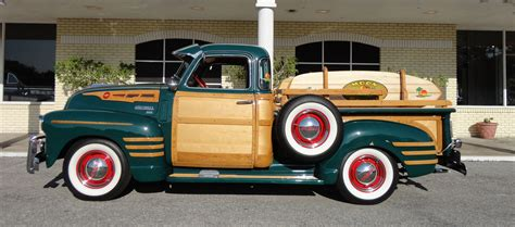 1950 chevrolet 3100 custom woody retro wheel g