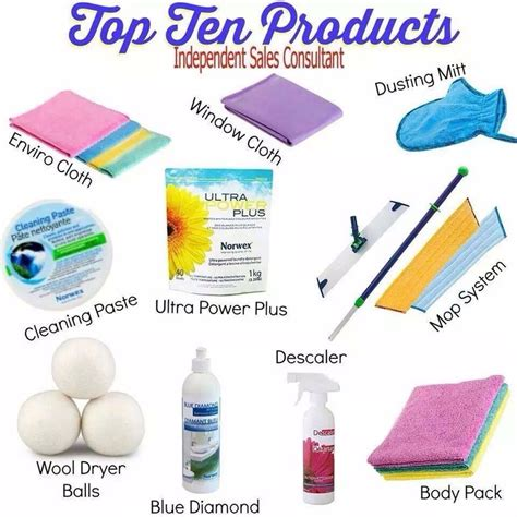 category top 10 products norwex
