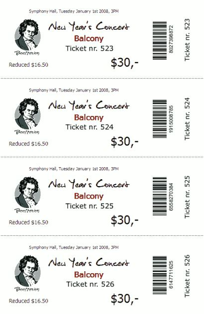 Ticketcreator Create Design And Print Tickets With Ticketcreator Ticket Templates Dinner Ticket Template Free