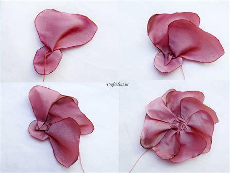 making fabric flower craft ideas