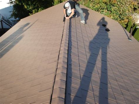 install  metal shingles roof metalroofing