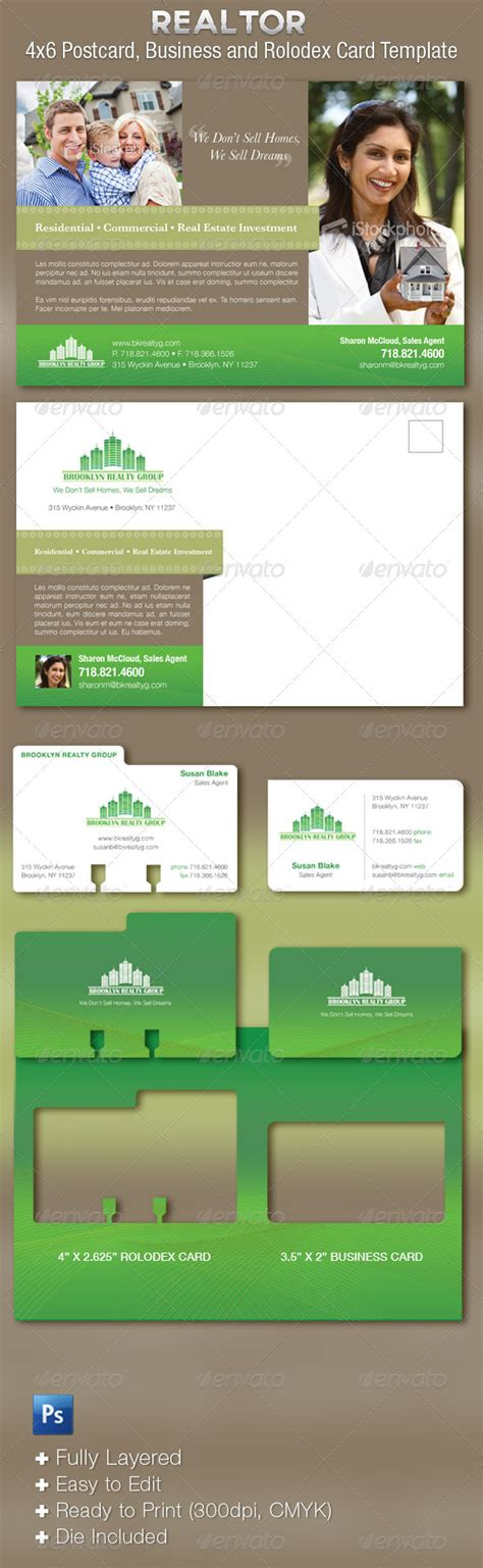 realtor business cards templates real estate flyer and business cards template graphicriver