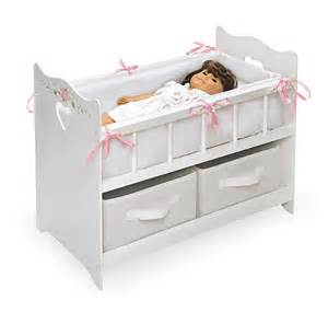 baby doll crib american toys wood drawers bed