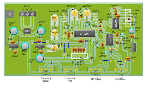 pcb layout guidelines circuit arduino xr 2206 function generator