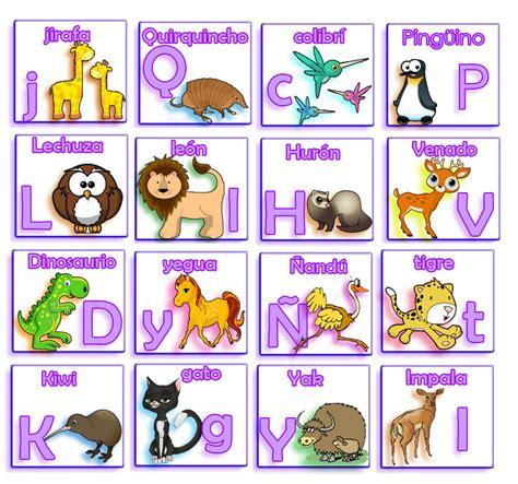 imagenes de animales con w el lenguaje de los ni 241 os loter 237 a de letras y animales