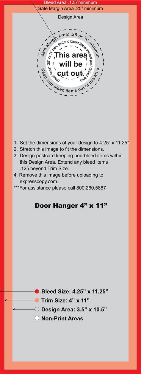 door hanger print specifications expresscopy com
