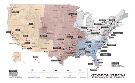 map of usaf bases about us