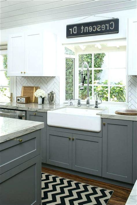 Light Grey Kitchen Cabinets Cute Gray With White