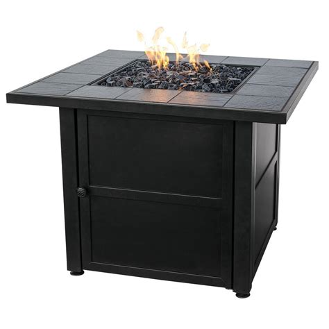 Slate Pit Uniflame Slate Tile Propane Gas Pit Gray Shop Your