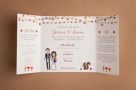 Autumn Wedding Invitations by Autumn Wedding Invitation To And Fromto And From